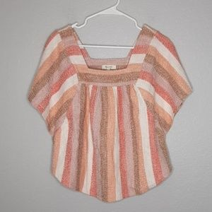 NWT Madewell Texture & Thread Butterfly Stripe Top